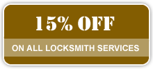 15% of on all locksmith services